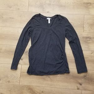 Ambiance Maternity Long Sleeve Top Gray {Large}
